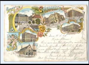 XX11539-091./ Gruß aus Chemnitz 1898 Litho AK