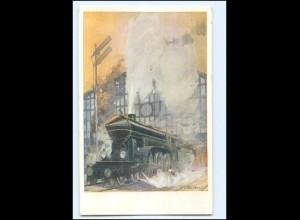 XX11891/ Eisenbahn Lokomotve Künstler AK B.K.W I. 759-1 ca.1912