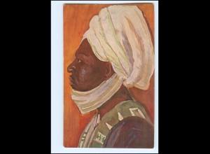 XX11914/ Vollbehr Künstler AK Kamerun Häuptlin Nioja, Kolonien ca. 1912