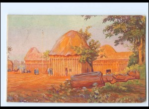 XX11888/ Vollbehr Künstler AK Palast Njojas Kamerun Kolonien ca.1912