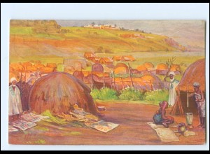 XX11886/ Vollbehr Künstler AK Militärstation Bamenda Kamerun Kolonien ca.1912