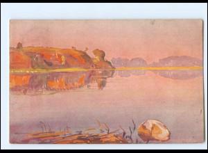 XX11885/ Vollbehr Künstler AK Nunfluß Kamerun Afrika Kolonien ca.1912