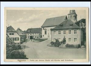 XX11561/ Marktzeuln Partie am oberen Markt mit Kirche und Schulhaus AK