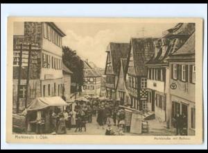 XX11566/ Marktzeuln Marktstraße mit Rathaus AK