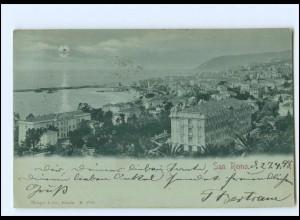 XX11669/ San Remo Mondschein AK 1898 Italien