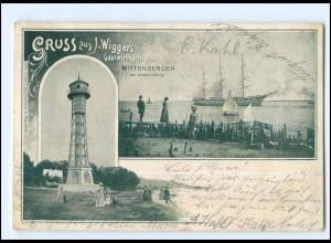 XX14711/ Hamburg Wittenbergen Blankenese Wigger`s Gastwirtschaft Leuchtturm AK
