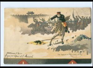 XX14712/ Japan-China Krieg The Capture of Kiu-lien-ching Litho AK 1904