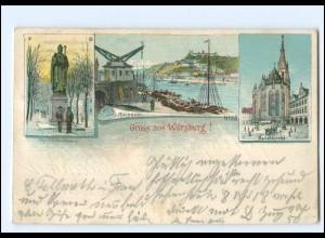 XX11560/ Gruß aus Würzburg 1901 Litho AK