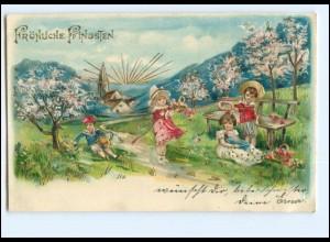 XX11651/ Pfingsten Kin der schöne Litho Präge AK 1905