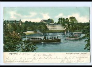 XX11550-19./ Schwerin Großherzoglicher Marstall Dampfer 1906 AK