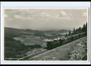 XX11478/ Brockenbahn mit Schierke Eisenbahn Foto AK 1938