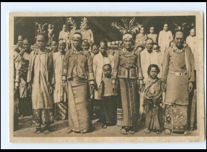 Y17997/ Südnias vornehme Frauen mit goldenen Kopfschmuck AK Indonesien