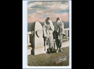 Y17938/ Alger Mauresques voilees Frau verschleiert Afrika KA 1954