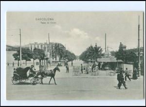 Y17933/ Barcelona Paseo de Colon AK Spanien 1908