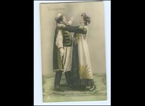Y17950/ Theater - Die lustige Witwe - Foto AK Radium Brom ca.1910