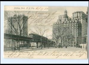 Y17948/ New York City Battery Park USA AK 1904