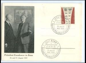 Y17940/ Präsident Eisenhower in Bonn Adenauer AK 1959