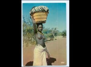Y17907/ Afrika junge Frau nackt AK 1974