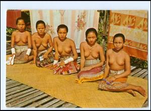 Y17946/ Junge Frauen nackt Sarawak - Malaysia AK ca. 1965