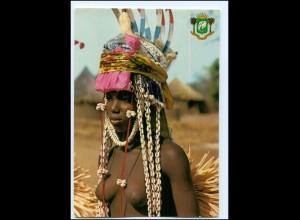 Y17912/ Boundiali Young Dancer Afrika junge Frau nackt AK