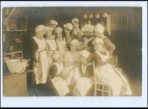 Y18000/ Haushaltungsschule Küche Frauen Foto AK ca.1925