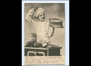 Y18007/ Junge als Koch Le Marmiton (Der Küchenjunge) AK 1902