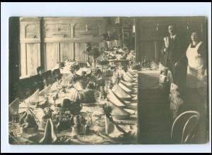 Y18008/ Restaurant gedeckter Tisch Foto AK ca.1920