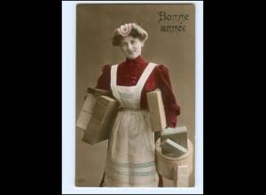 Y18009/ Hausangestellte schöne Foto AK ca.1910