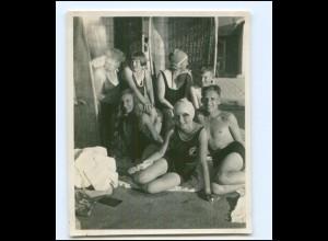 Y18013/ Badeleben Jungen und Mädchen Foto ca.1935 11 x 8,5 cm