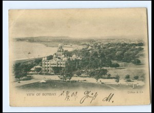 Y18039/ View of Bombay AK 1903 Sea Post Officed