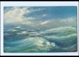 Y18067/ What are the wild Waves saying? Wellen Meer ca.1912