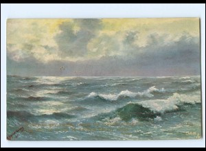 Y18066/ What are the wild Waves saying? Wellen Meer ca.1912