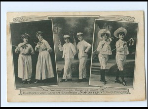 Y18087/ Verwandlungs-Gesang-Duo Ensemble Nordstern AK Variete ca.1910