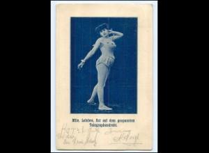 Y18206/ Mlle. Lefebre Act a.d. gespannten Telegraphendraht Variete AK 1907