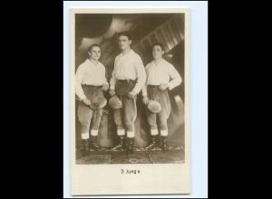Y18094/ 3 Jungs`s Artisten Variete Foto AK ca.1925