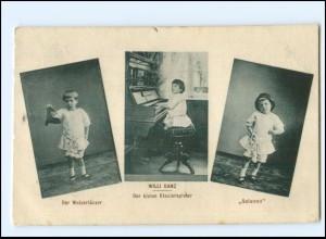 Y18096/ Willi Danz der kleine Klavierspieler Variete AK ca.1912
