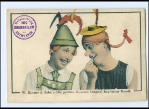 Y18212/ W. Baumer & Sohn bayrische Komiker AK Variete 1930