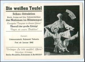V1020/ Schamil u. Tamara Tänzer in Litzmannstadt, Kabarett Tabarin 1942 Variete