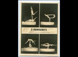 V1013/ 2 Ruwaldy`s Artisten Akrobaten Variete Foto AK ca.1935