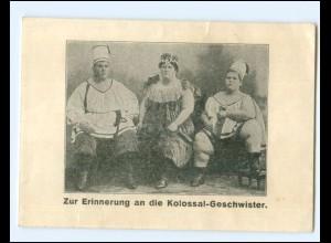 V1015/ Erinnerung an die Kolossal-Geschwister dicke Menschen Varite AK