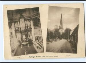 V959-2084/ Rellingen Kirche AK ca.1925