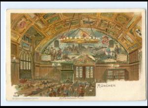 Y18145/ München Hofbräuhaus Litho Künstler AK Guggenberger ca.1900
