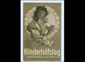 V1089/ Hamburg Kinderhilfstag Wandsbek 1911 Litho AK