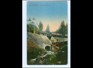 Y18260/ Brockenbahn im Tumkuhlental Eisenbahn AK 1913