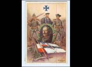 Y18275/ Kolonialkriegerdank AK Kaiser Wilhelm - Durch Kampf zum Sieg 1916 WKI
