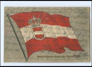 Y18276/ Österrreich-Ungarische Kriegsflagge AK 1915