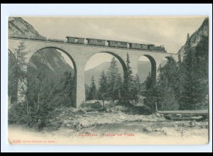 V1140/ Albulabahn Viadukt bei Preda AK Eisenbahn Schweiz ca.1910
