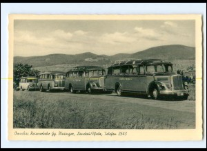 V1150/ Landau Pfalz Omnibus Reiseverkehr Blesinger AK ca. 1955