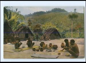 V1107/ Rheinische Mission in Sumatra Indonesien Töpferei Ak ca.1910