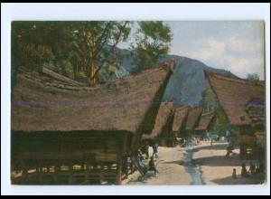 V1104/ Rheinische Mission in Sumatra Indonesien Im Batakdorf AK ca.1910